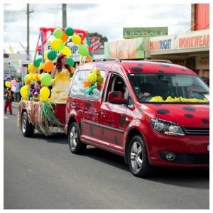 Ladybug car and Balloons
