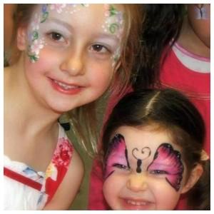 Butterfly & Flower Face paint