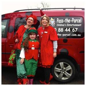 Christmas Elves and Ladybug Car