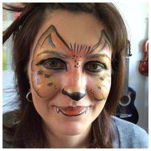 Leopard masquerade face paint