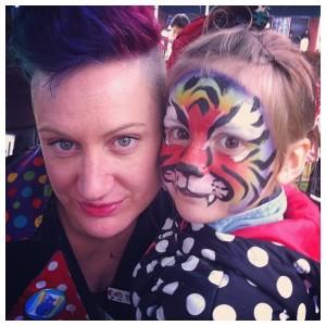 Rainbow tiger & Ffyona