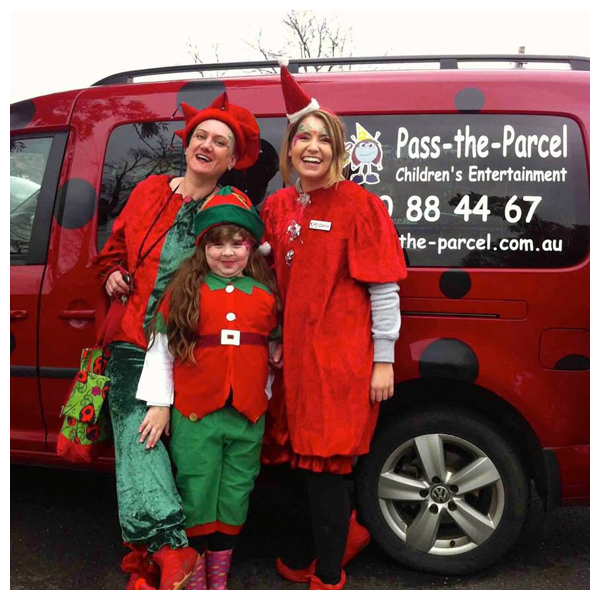 Christmas Elves and Ladybug Car