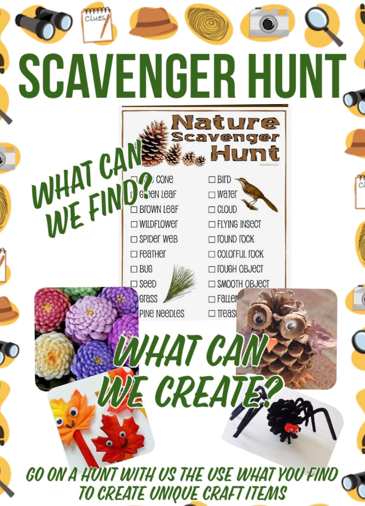 Scavenger hunt and craft